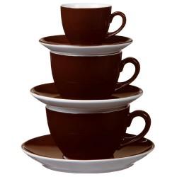 Zestaw filiżanek ALLEGRI COLOR, kolor czekoladowy