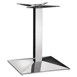 Podstawy do stołu, kwadratowe, chromowane