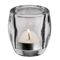 Świecznik szklany na podgrzewacze