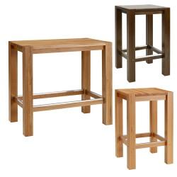 Stoliki barowe, masywne drewno DONATO