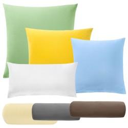 Poszewki na poduszkę i rolki pod kark Jersey