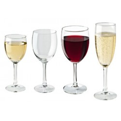 Zestaw kieliszków do wina i szampana Claret